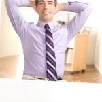 verkställande avkopplande på jobbet — Stockfoto
