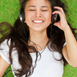 Listening to music — Stock Photo