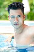 Man at pool — Stock Photo