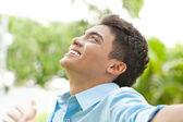 счастливый молодой человек — Стоковое фото