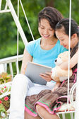 Spending time with mom — Stock Photo