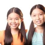 Happy schoolgirls — Stock Photo