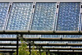 Solar collectors — Stockfoto
