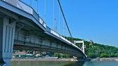 Elizabeth (Erzsebet) bridge — Stock Photo