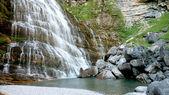 Horsetail (Cola de Caballo) waterfall — Stock Photo