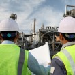 Two engineer of oil refinery — Stock Photo #11219827