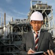 Royalty-Free Stock Photo: Engineer of oil  refinery