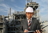 Engineer of oil refinery — Stock Photo