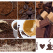collage de café — Foto de Stock