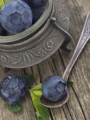 Blueberries in the vintage arrangement — Stock Photo