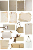Collection of vintage notes and tags — Stock Photo