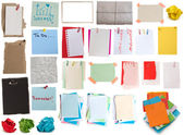 Big collection of notes — Stock Photo