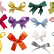Stock Photo: Collection of colorful bows isolated