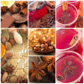 Beautiful collage with anise — Stock Photo