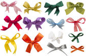 Collection of colorful bows isolated — Stock Photo