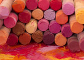 Red dried pastels — Stock Photo