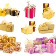 Collection of gift boxes — Stok fotoğraf