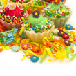 Cupcakes in the holiday arrangement — Stock Photo #11244755