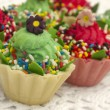 Cupcakes in the holiday arrangement - Stock Photo