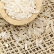 Royalty-Free Stock Photo: Rice in the wooden spoon