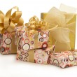 Presents over white background — Stok fotoğraf