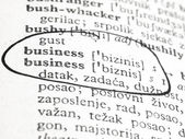 Word business in the dictionary — Stock Photo