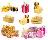 Samling av presentförpackning — Stockfoto