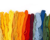 Colorful yarns — Stock Photo