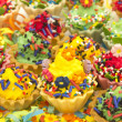 Stock Photo: Multicolor cupcakes