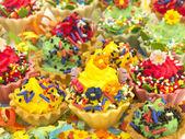 Multicolor cupcakes — Stock Photo