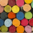 Colorful crayons background — Stock Photo #11261904