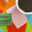 Think different note - Stock Photo