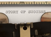 Historia av framgång — Stockfoto