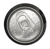 Top of an unopened can with water drops — Stock Photo