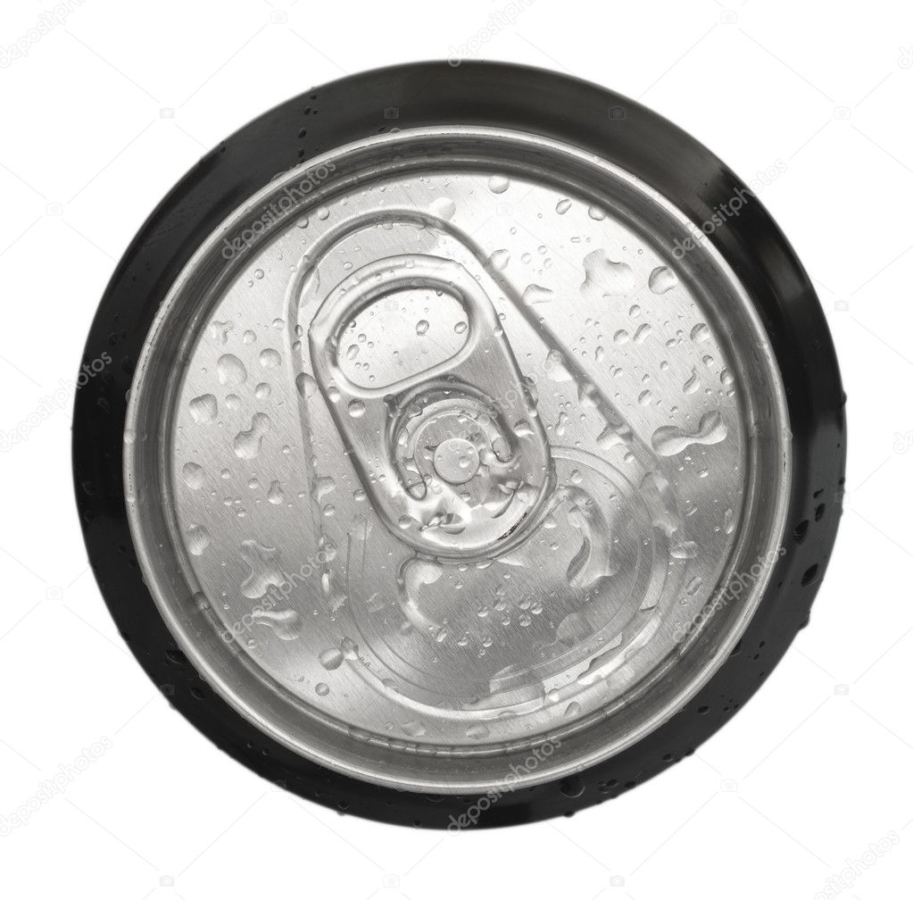 Top of an unopened can with water drops  — Stock Photo #11269245
