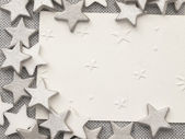 White tag with stars decoration — Stock Photo