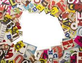 письма, вырезать из журналов — Стоковое фото