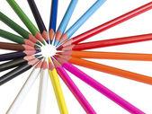 Matite colorate nel cerchio — Foto Stock