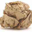 Стоковое фото: Crumpled paper isolated over white