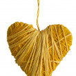 Yellow heart  — Stock Photo