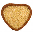 Stok fotoğraf: Rice in heart shape dishes, collection