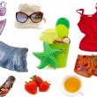 Clothes and other equipment for the beach — Stock Photo