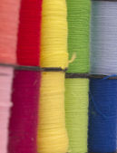 Colorful background made of bobbins — Stock Photo