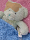 Illness teddy — Stock Photo