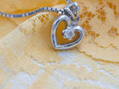 Necklace with heart — Stock Photo