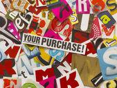 Cortar las letras del periódico — Foto de Stock