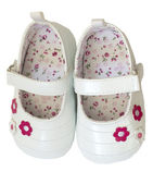 Baby girl's shoes — Foto Stock