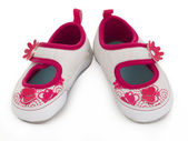 Baby girl's shoes — 图库照片