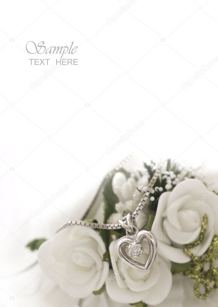 Wedding arrangement with the place for your text — Stock Photo #11281760