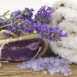 Spa arrangement with lavender — Stock Photo